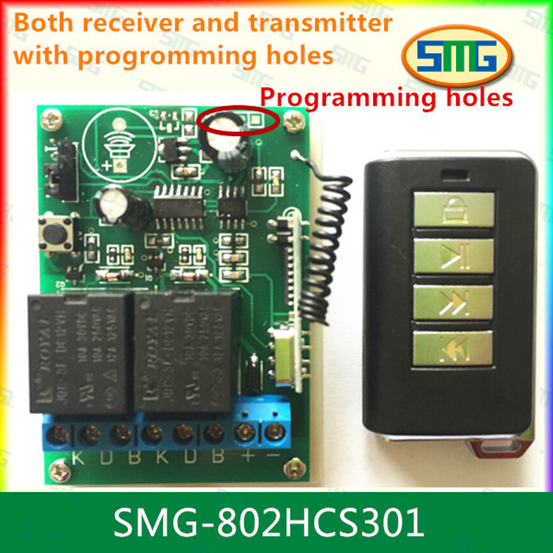Hcs301 Remote Controller 2 Channel Receiver Receiver
