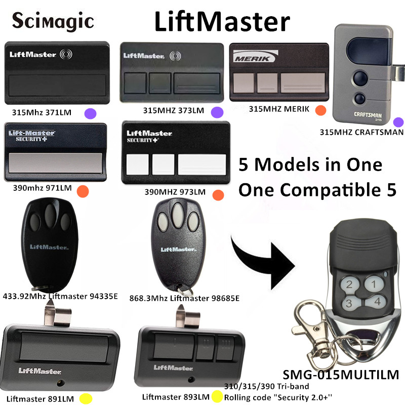 Liftmaster 315mhz 371LM 390mhz 971LM Liftmaster 891LM