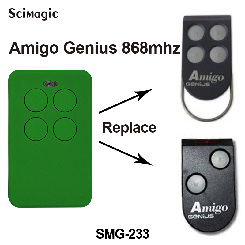 Replace GENIUS AMIGO 868 MHZ Transmitter Fob for Automated Gates 4