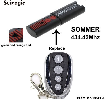 SMG-001S434 FM 434.42Mhz Sommer TX03 434-4 Rolling Code Replacement