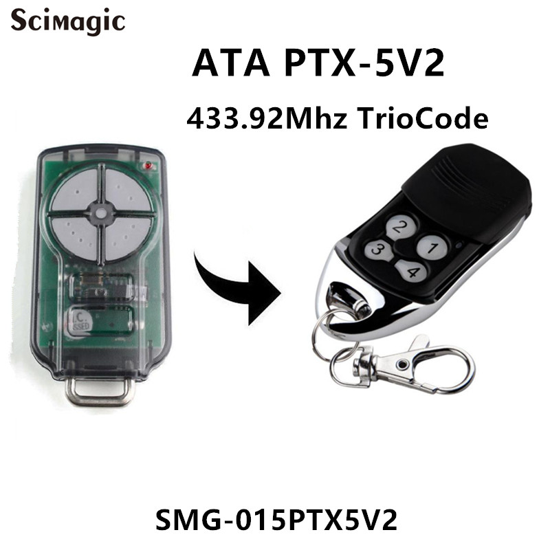 Ptx 5v2 Ata Garage Door Remote Control Triocode128 Ptx5