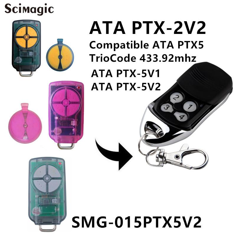 Ptx 5v2 Ata Garage Door Remote Control Triocode128 Ptx5